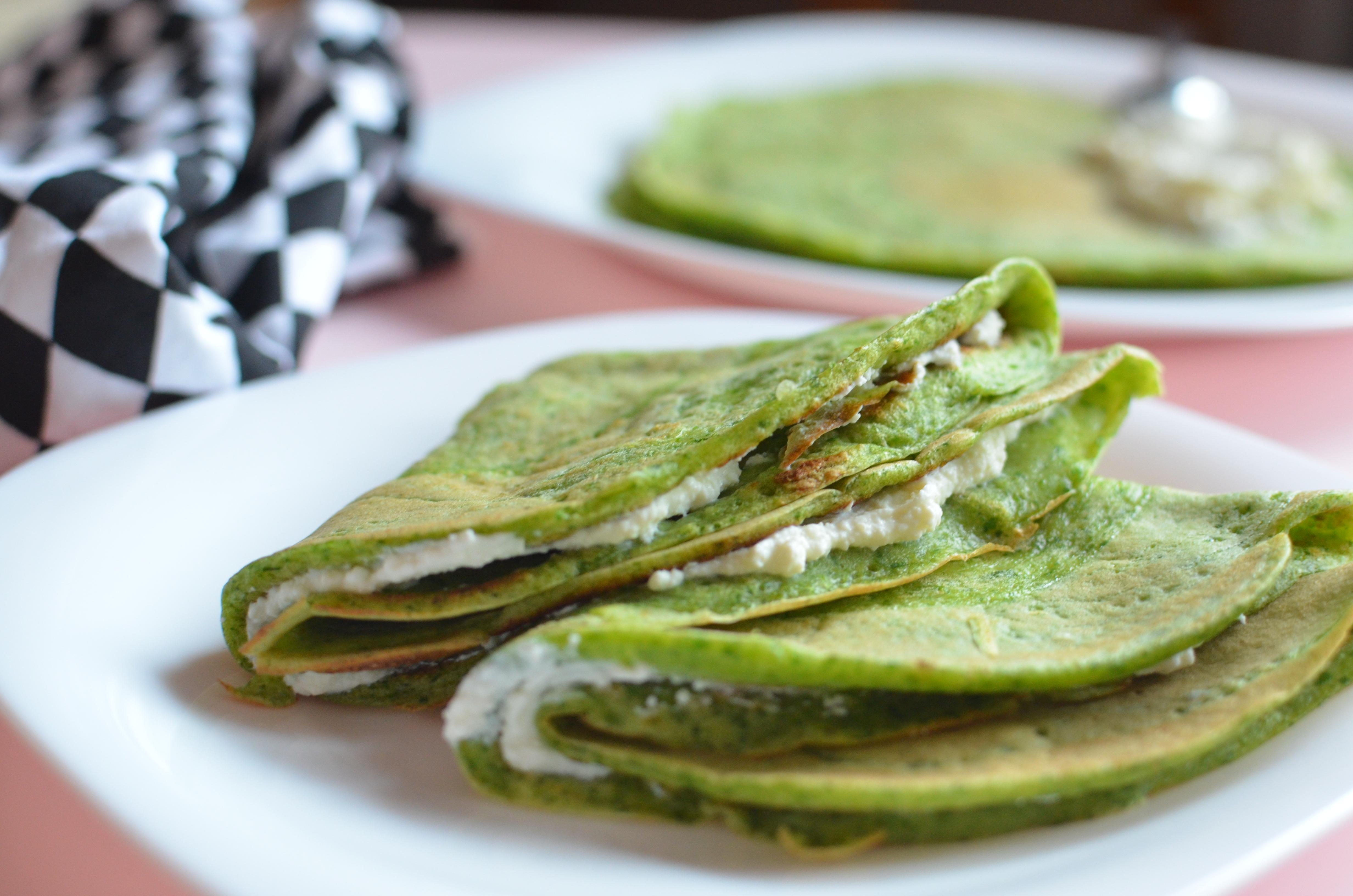 Zielone naleśniki ze szpinakiem