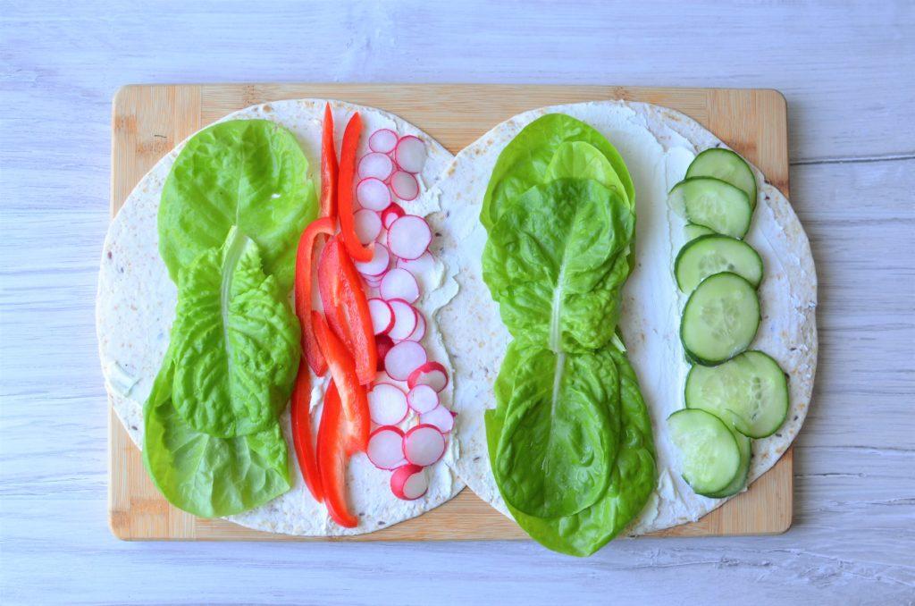 Tortille z warzywami.