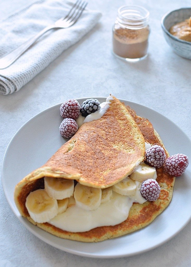 FIT omlet owsiano -bananowy.