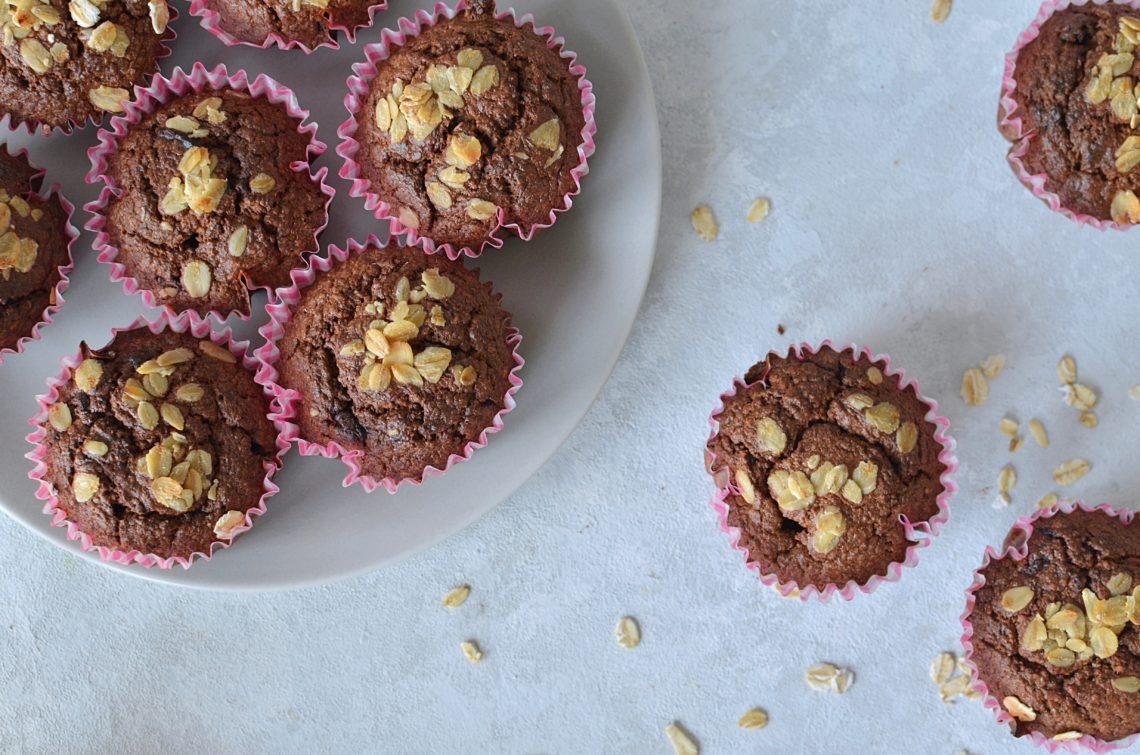 Muffinki owsiane z bananem fit.