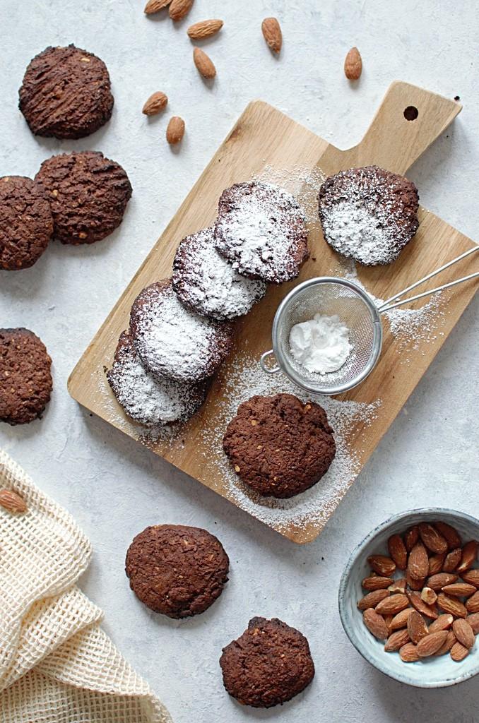 Ciasteczka czekoladowe z mąki gryczanej.