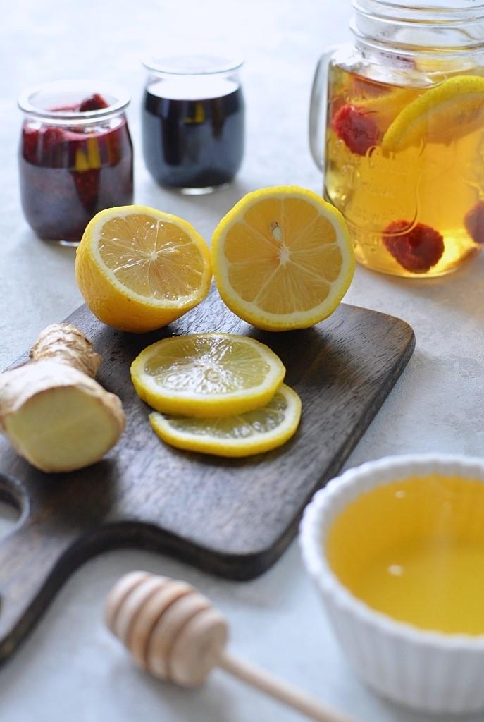 Dodatki do herbaty na przeziębienie.