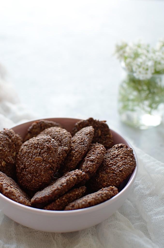 CIasteczka owsiane czekoaldowe.