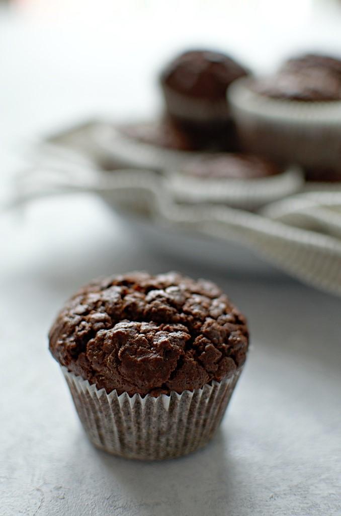 Muffinki z cukinii czekoladowe.